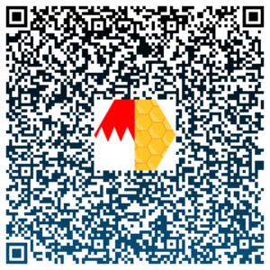 Ein <b>Klick</b> auf den QR-Code öffnet die vCard von Frankenwachs