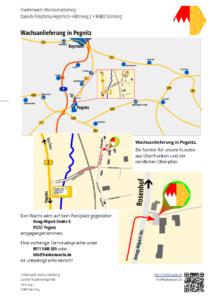 Wachsanlieferung in Pegnitz - Anfahrt