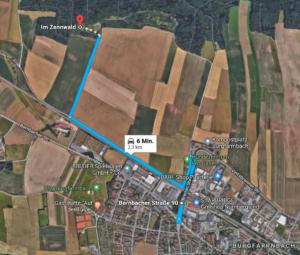 Anfahrt Imkerverein Fürth-Burgfarrnbach - Lehrbienenstand