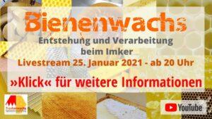 YouTube-Stream 25.01.2021 - Bienenwachs